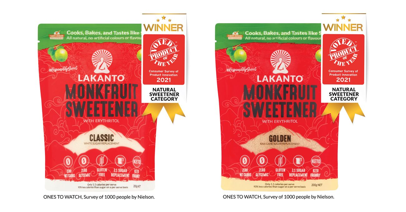Lakanto, Product of the Year 2021 in Australia